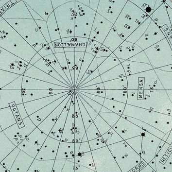 1910 star map 70 original antique celestial print