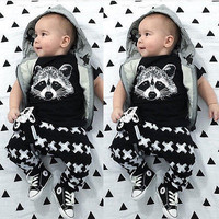 Newborn Baby Girl Boy Fox T-shirts Pants Leggings 2pcs Outfits Set Clothes 0-24M 2016 Hot Selling
