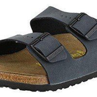 "Birkenstock Arizona ""Soft Footbed"" Birko-Flor Sandals, Basalt, Unisex, 39 M EU (US Women Size 8-8.5)"