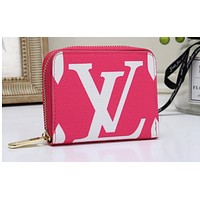 LV Fashion Hot Selling Colourful Manyin Lady's Small Wallet Handbag Pink