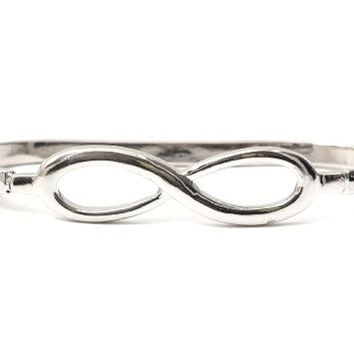 Infinity Symbol Palm Bracelet Silver Tone Eternity Sign BC26 Knuckle Band Hand Piece