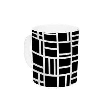 "Trebam ""Kutije"" Black White Ceramic Coffee Mug"