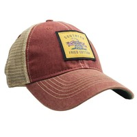 Don't Tread On Me Trucker Hat in Cardinal Red by Southern Fried Cotton