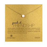 Pearls Of Friendship Pearl Necklace, Gold Dipped   Dogeared
