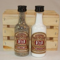 Salt & Pepper Shakers Upcycled from E&J Brandy Mini Liquor Bottles