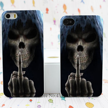 Grim Reaper Gothic Death Angel Style Hard White Skin Case Cover for iPhone 5 5s 5g