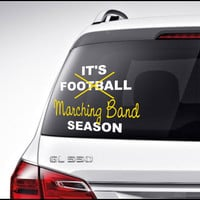 Football Marching Band Car Decal Vinyl Lettering Bumper Sticker High School Football Marching Band Car Decal