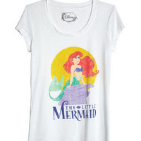Classic Little Mermaid Burnout Tee - White