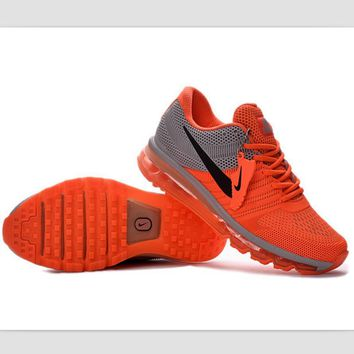 NIKE fashion casual shoes sports shock absorbing running shoes Orange gray