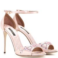 Keira embellished satin sandals