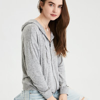 AE Soft & Sexy Plush Full Zip, Light Heather