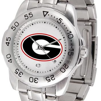 Georgia Bulldogs Sport Steel Watch