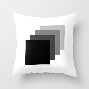 #33 Squares Throw Pillow by Minimalist Forms