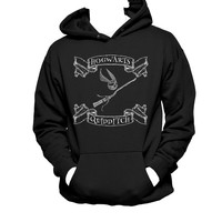 Hogwarts Quidditch Broom and Snitch Hooded Unisex Sweatshirt, Harry Potter Hoodie