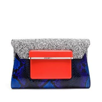 MARY KATRANTZOU | Python Envelope Clutch | Browns fashion & designer clothes & clothing