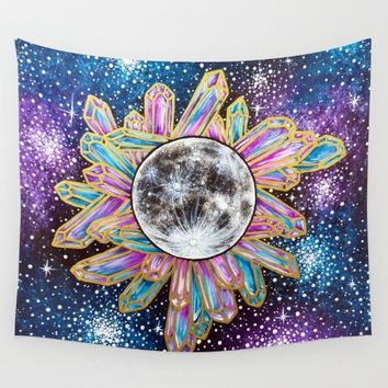 Crystal Moon Wall Tapestry by Ariana Victoria Rose