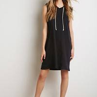 Drawstring Hood Shift Dress