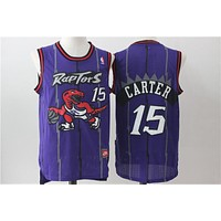 Toronto Raptors 15 purple Vince Carter Retro Swingman Jersey