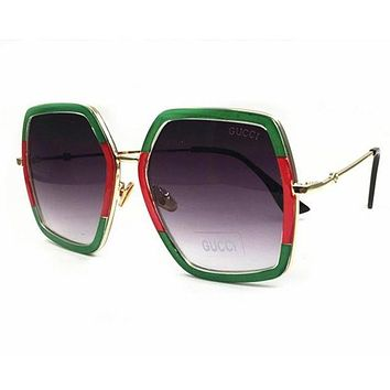 GUCCI Trending Women Stylish Personality Summer Sun Shades Eyeglasses Glasses Sunglasses