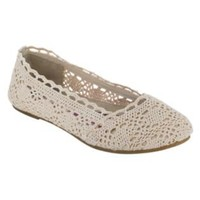 Women's Ella Macrame Flat - Tan- Bongo-Shoes-Womens-Flats & Loafers