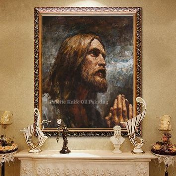 Jesus Christ Jesus Canvas Posters and Prints Wall Art Pictures for living room Home Decor cuadros decoracion Oil painting 54