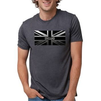 England Union Jack Modern Flag Mens Tri-blend T-Shirt
