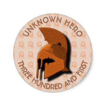 Unknown Spartan 301th Hero Greek Helmet Classic Round Sticker