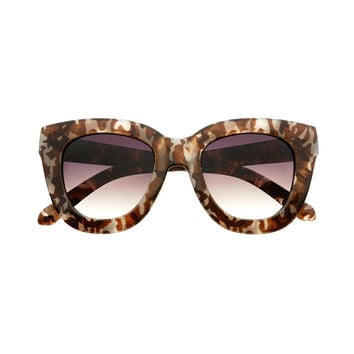 Large Hip Fashion  Womens Cat Eye Sunglasses C1750