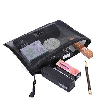 Casual Travel Cosmetic Zipper Make Up Transparent Makeup Case