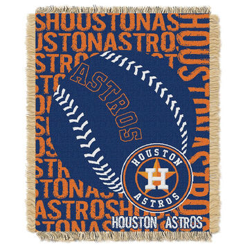 Houston Astros MLB Triple Woven Jacquard Throw (Double Play) (48x60)