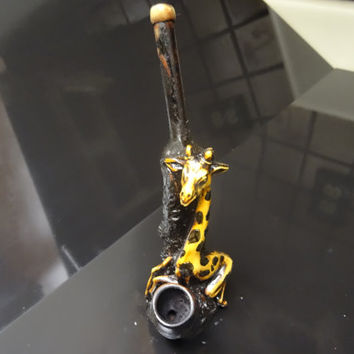 Sweet Giraffe Ceramic Glass Pipe Tobacco Pipe FREE SHIPPING