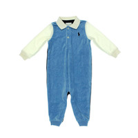 Ralph Lauren Baby Boys Velour Infant Boys Jumpsuit