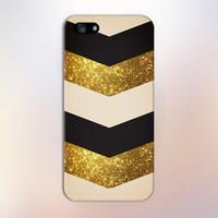 Gold Glitter x Black x Beige Chevrons Design Case for iPhone 6 6 Plus iPhone 5 5s 5c iPhone 4 4s Samsung Galaxy s5 s4 & s3 and Note 4 3 2
