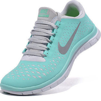 Tiffany Blue Women's Nike Free 3 V4