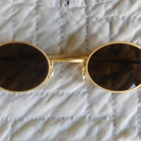 Vintage Sunglasses Brass Glasses
