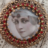 Ruby Flapper Necklace