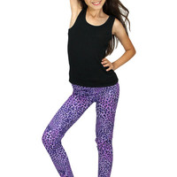 Dirtee Hollywood Purple Cheetah Leggings | Mod Angel