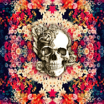 You are not here Day of the Dead Rose Skull. Art Print by Kristy Patterson Design | Society6