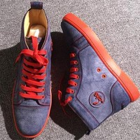 Christian Louboutin CL Leather Style #2145 Sneakers Fashion Shoes Best Deal Online