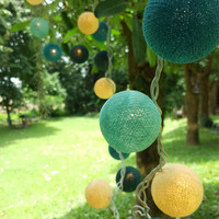 Chirtmas Cotton Ball Lights for home decoration,wedding patio,indoor string lights,bedroom fairy lights,20 Bulbs