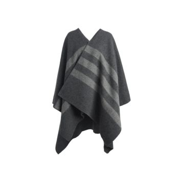 Poncho - Grey / Grey Stripe
