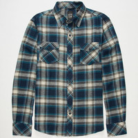 Micros Reflektor Mens Flannel Shirt Navy  In Sizes