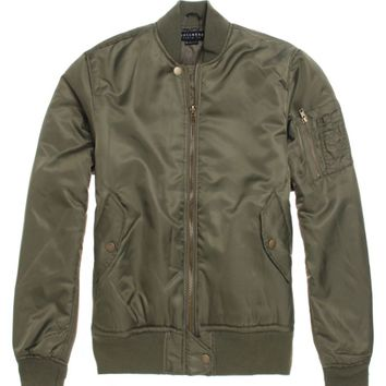 Bullhead Denim Co Bomber Jacket - Mens Jacket - Green