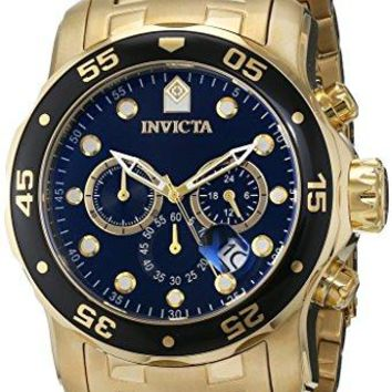 Invicta Pro Diver Collection Chronograph 18k Gold-Plated Watch