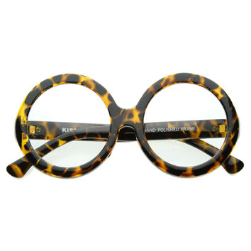 Oversize Round Designer Inspired Womens Fashion Glasses 8046