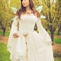 Gwendolyn Medieval or Renaissance Wedding Gown Velvet and Lace Custom