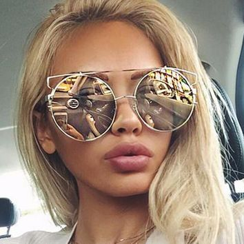 Metal Stylish Ladies Fashion Sunglasses [11717077903]