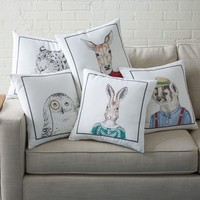 Dapper Animal Pillow Covers