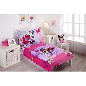 Kids 4 Piece Toddler Bedding Comforter Set