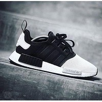 Adidas Black and white fashion casual shoes